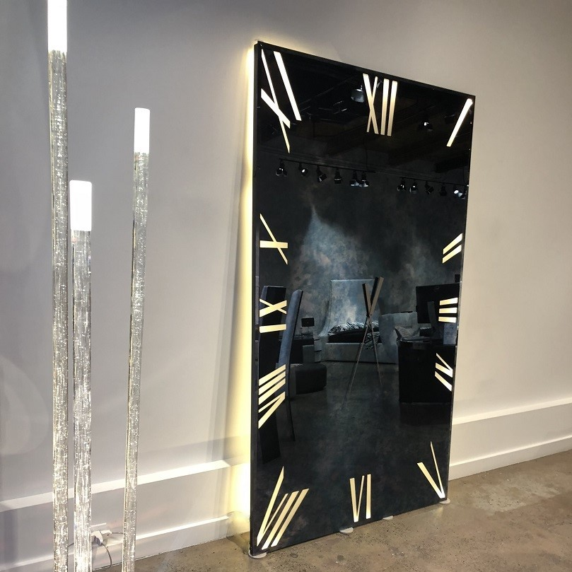 luxury furniture stores calgary mirrors clocks titanium specchio mirror clock reflex angelo prianera luxuries of europe